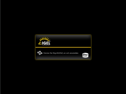 Appliance Mode Start Screen
