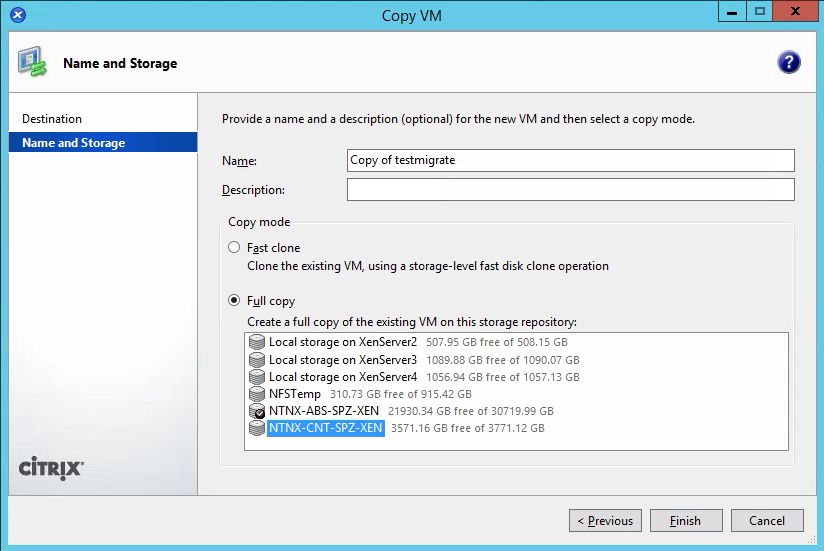 How-to migrate from Citrix XenServer 7 to NutanixAHV